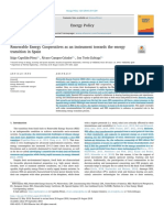 Renewable Energy Cooperatives as an instrument towars the energy transition in Spain