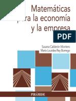 Matemáticas Para La Economía y La Empresa - Susana Calderón Montero-(E-pub.me)
