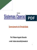 Sistemas Operacionais - Gerenciamento Entrada Saida