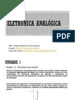 Aula 2 Eletrônica Analógica - Circuitos com diodos.ppt