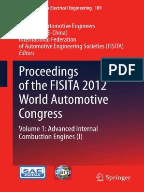 2013 Book Proceedingsofthefisita2012worl 1 Pdf Internal Combustion Engine Piston