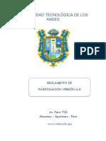 rEGLAMENTO DE INVESTIGACION 2019