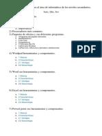 Programa de clase para el área de informática de los niveles secundarios