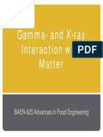 Gamma- and X-ray Interaction with Matter