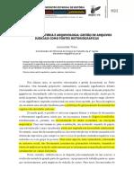 JUDICIARIO, HISTORIA E ARQUIVOLOGIA