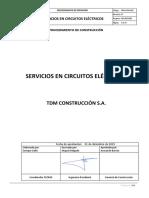 PRO-II-PAV-003.- Servicios en Circuitos Eléctricos Rev.01_