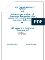 ING Vysya Comparative Analysis of Insurance Companies With Special Reference to Products & Consumer Behavior at ING Vysya Life Insurance Company Ltd
