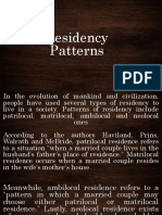 residency patterns