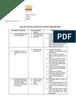Job Safety Analysis Installation ( JSA)