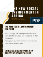 The New Social Environment in Africa