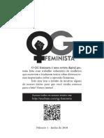 Zine QG Feminista (Número 1, Julho/2018) - O que é feminismo?