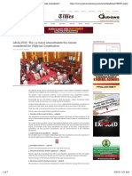 ANALYSIS- The 33 major amendments the Senate considered for Nigerian Constitution