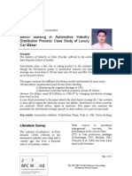 Paper Bench Marking in Automotive Industry Distribution Process