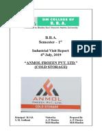B.B.A. Indutrial visit REPORT