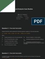 Demand Analysis Case Study