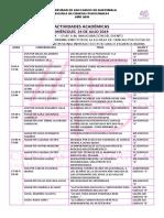 2019 ANIVERSARIO CRONOGRAMA DE ACTIVIDADES ACADÉMICAS, CULTURALES Y DEPORTIVAS