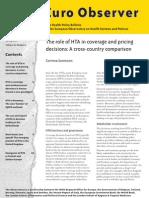 Role of HTA in covergae
