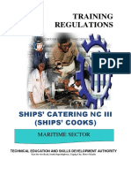 TR - Ships Catering Services NC III (Ships Cooks)