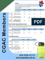 Aquatic Centre Rates