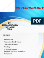 CSE Touchless Touchscreen Technology