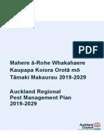 Auckland Regional Pest Management Plan 2019 - 2029