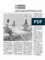 Bandera, Feb. 11, 2020, Quezon solon calls for review of PH Fisheries Code.pdf