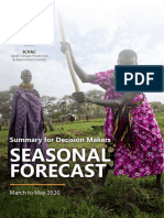 IGAD Seasonal Forecast MAM 2020