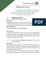 01 ESPECIFICACIONES TECNICAS AV. LA MAR