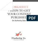 WORKSHEET 7 Ways to Get Your Content on Authority Sites