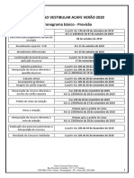 Edital - Cronograma básico