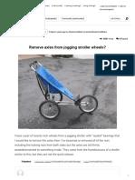 ¿Quitar los ejes de las ruedas de la carriola