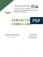 Proiect -Ambalarea