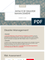 Toponym Data for Disaster Management