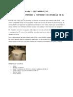 ENSAYO DE PESO UNITARIO Y CONTENIDO DE HUMEDAD DE LA AREA