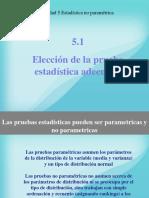 5.1 Elección de pruebas estadísticas