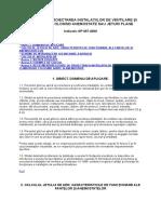 GP_057-2000 - GHID PENTRU PROIECTAREA INSTALAŢIILOR DE VENTILARE ŞI CLIMATIZARE FOLOSIND ANEMOSTATE SAU JETURI PLANE
