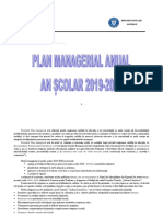 Plan Managerial 2019-2020