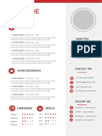 Red Resume Free Template