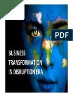 Business Transformation in Disruption Era