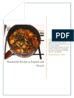 Ratatouille Recipe in English and French