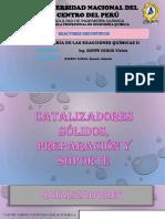 CATALIZADORES, PREPARACIÓN Y SOPORTE