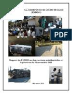 Rapport du RNDDH sur les élections présidentielles et législatives du 28 novembre 2010
