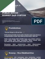 Public Goods, Definisi dan Contohh