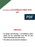 Advance Surveillance robot over IOT