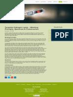 Tungsten Halogen Lamp - Working Principle, Spectrum & Construction.pdf