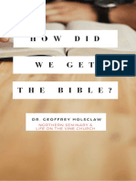 How-Did-We-Get-The-Bible-Holsclaw
