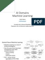 6 - T Slides ALGAV AI Domains - Machine Learning EN