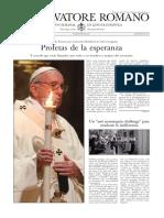 l'o s s e Rvator e Romano. Profeas de La Esperanza.3!2!2017
