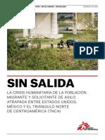 "MSF México. Informe ""Sin salida"""