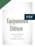 Equipamentos Elétricos - Religadores